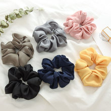 fashion Lady Hair Scrunchies Ring Elastic Hair Bands Pure Color Bobble Sports Dance Soft Charming Scrunchie Hairband Pure Color(China)