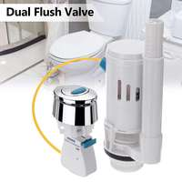 27cm Length Cable Universal Seats Toilet Connected Water Tank Dual Flush Fill Drain Valve Flush Push Button WC Water Tank
