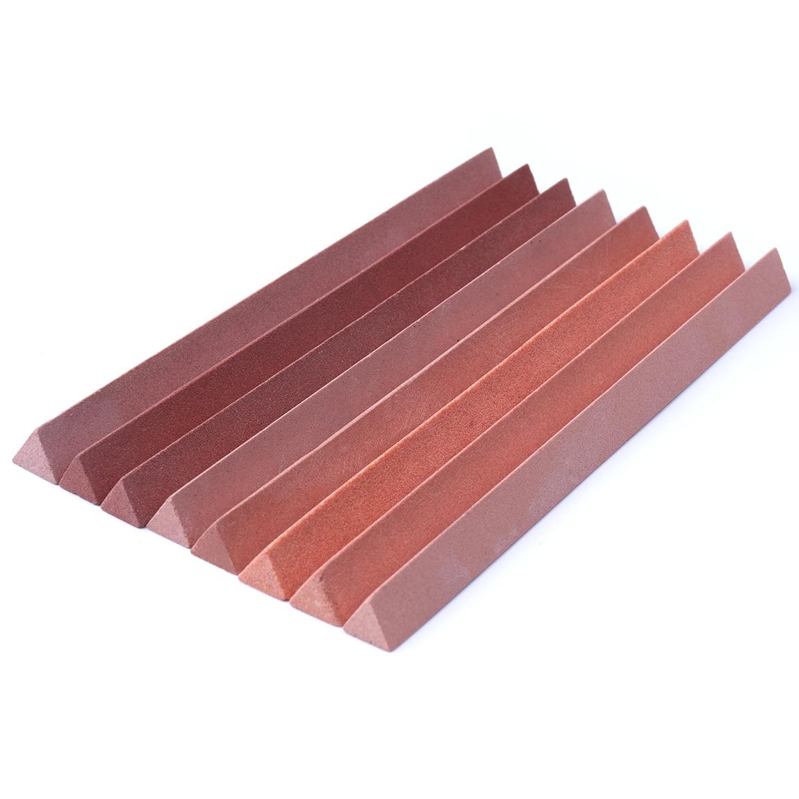 High Hardness 7Pcs/Set 150*10mm White Corundum Oil Stone Knife Sharpener Grindstone Kit 120/240/320/400/600/800/1000#
