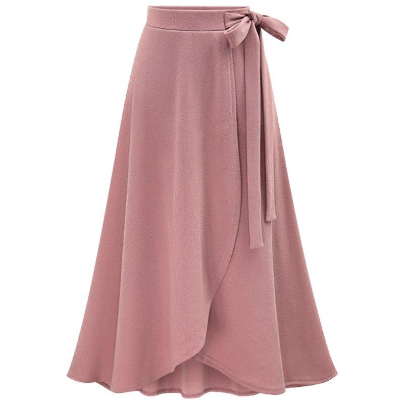 Jupe femme automne nouveau Style taille haute jupe irrégulière jupe fendue européenne et américaine L longue jupe en tissu Bandage longue