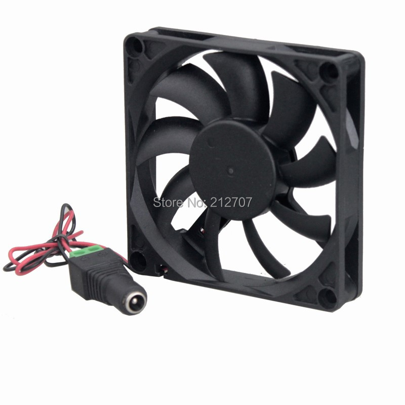 Купить с кэшбэком 5 Lots/Sets Gdstime Ball Bearing 12V 80mm x 15mm Cooling Fan with Adapter Cabinet Fan Kit