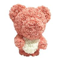 Valentine's Day 40cm Modeling Bear Wedding Rose Bear Bouquet PE Simulated Flower Bear DollFoam Gifts Heart Balls Crafts Flower