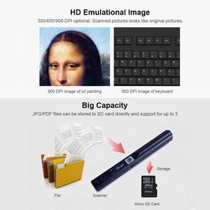 Image 4 - IScan портативный мини сканер для документов, портативный сканер для документов формата А4, книжный сканер формата JPG и PDF 300/600/900 DPI для сканирования документов