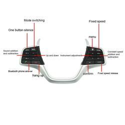 Samochodowy bluetooth sterowane za pomocą przycisków kanał głośności telefon tempomat przyciski na kierownicy przełącznik dla Hyundai Elantra 1.6L