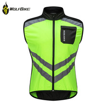 WOSAWE Reflective Windproof Cycling Vest Breathable Mtb Bicycle Mountain Bike Riding Jackets Sleeveless Safety Sports Waistcoat