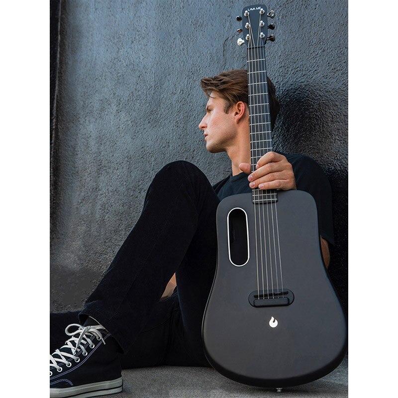 LAVE MOI 2 de Fiber de Carbone De Haute qualité Ballade Guitare Débutants Guitare De Voyage 36 pouces Étudiant Instruments guitare électrique