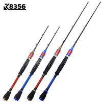K8356 Carbon Spinning Casting Lure Fishing Rod Telescopic Locating 3 Section Ice Fishing Rod Boat/Raft Saltwater Rod 1.3/1.5M