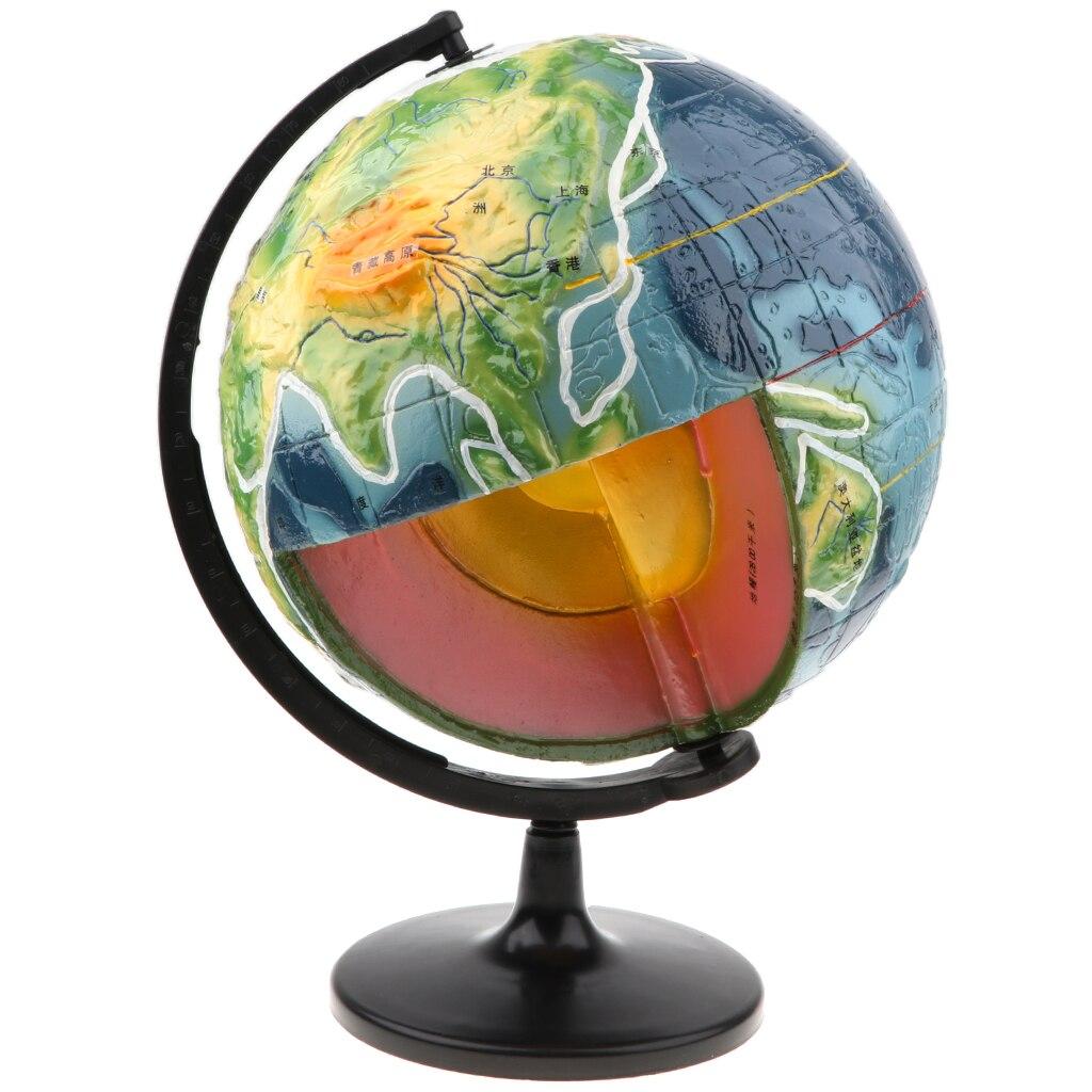 Terre croûte Globe croûte Structure apprentissage modèle géographie Science éducatif jouet pour enfants étudiants maison bureau bureau ornement