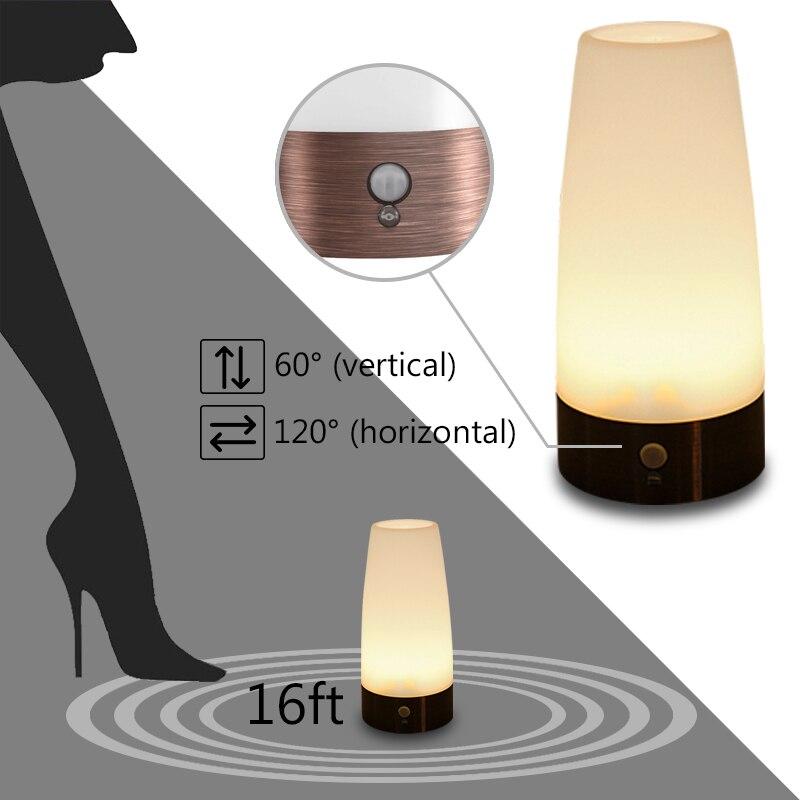 Lights & Lighting Led Table Lamps Wireless Led Pir Motion Sensor Night Light Battery Powered Table Lamp Nightlight For Bedroom Toilet Seat Home Decor Desk Lamp