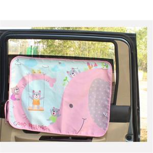 Image 2 - 70*50cm Car Cartoon Curtain Cover Sun Blocking Auto Curtain Side Blocking Tensile Sunshade Curtain for Children car styling