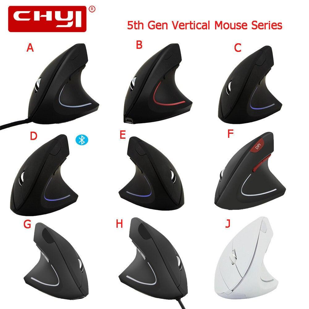 CHYI 5th Gen ratón Vertical de la serie 6 botón óptico USB saludable muñeca resto ergonómico los ratones de Juegos de ordenador Mause para ordenador portátil jugador