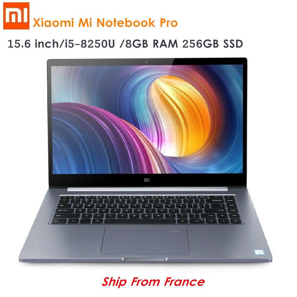Originale Xiao mi mi notebook pro Da 15.6 pollici Finestre 10 intel core I5/I7 quad CORE Del Computer Portatile 1.8 Ghz SSD DA 256 GB di Riconoscimento Delle Impronte Digitali