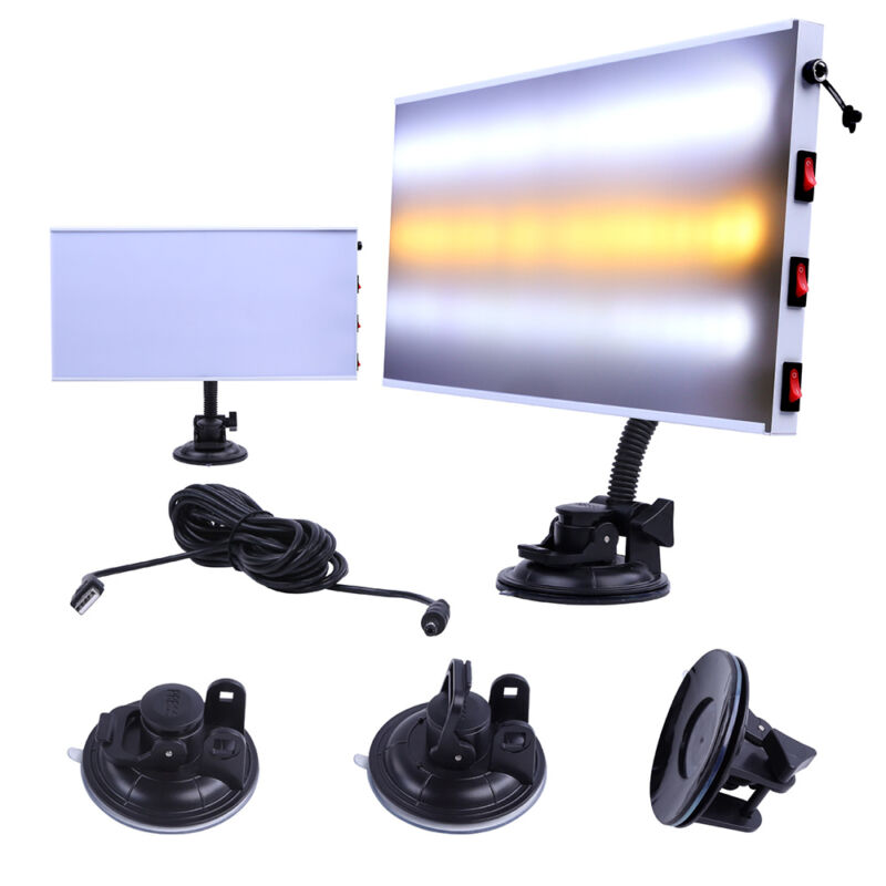 Super PDR LED Lamp Dent Repair Tools Dent Detector PDR line Board Dent Reflector for Car Body Dent Remove ingco
