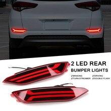 2 шт. светодиодный задний бампер отражатели дневные ходовые огни для езды в тумане тормозные огни для автомобиля hyundai Tucson высокое температура устойчивостью ABS светодиодный LED лампа б