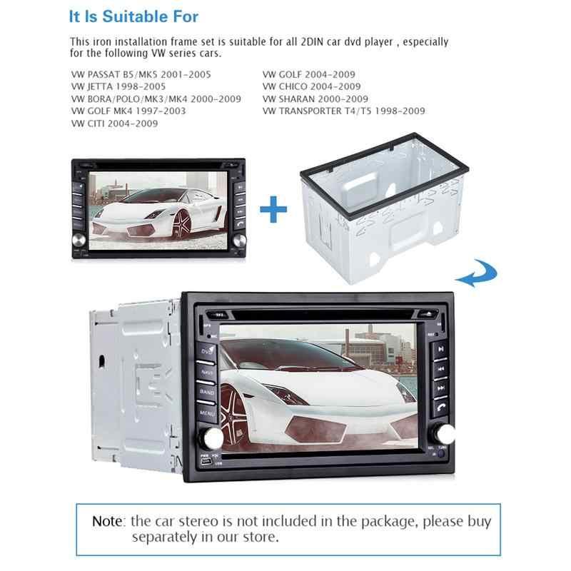 ユニバーサル日本車パネルフレーム 2 ディンアンドロイド車メディア DVD MP5 Android プレーヤーラジオ取付フレームゴルフ/ ポロ/MK3/ジェッタ