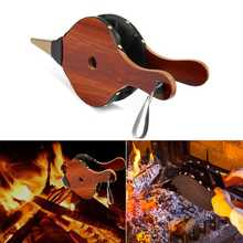 39*17cm Fireplace Wood Bellows Wood Barbecue BBQ Air Blower Bonfire Campfire Brown BBQ Tools For Outdoor Wild Donkey Firing Tool