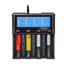 Leory adeaska vc4 plus display lcd inteligente usb 4 slots carregador de bateria para imr/li ion ni mh/ni cd/lifepo4 bateria