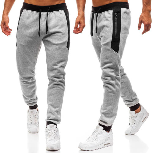 Pant Tracksuit Trousers Fitness Workout Men Loose Men's Casual Fashion New Long Gym