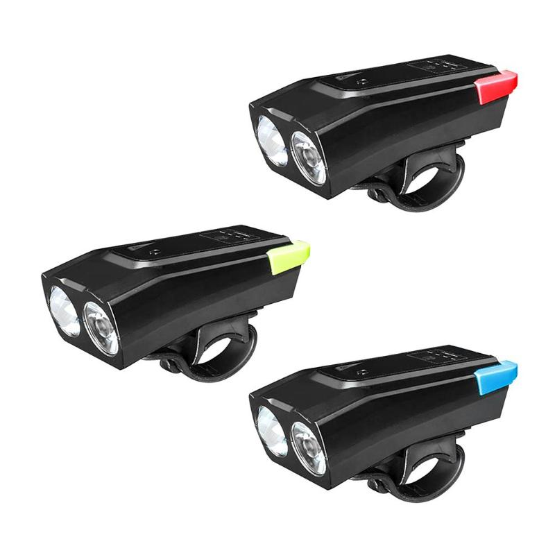 Bicycle Lamp LED Light Safety Warning Lamp Cycling USB Charging Headlight