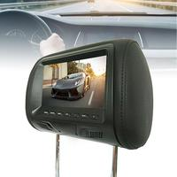 2PCS 7 Inch Rear Mounted Car Headrest Universal Hd Digital Screen Image Lcd Display Pair Headrest Tv Display 2019