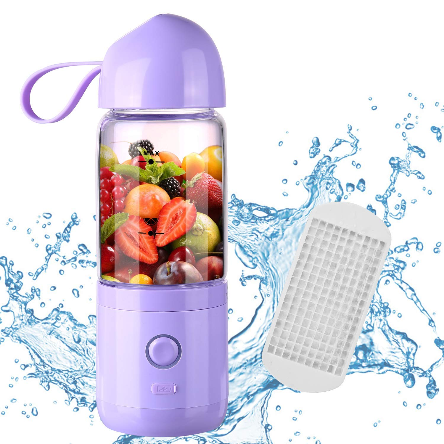Portable Blender,Usb Rechargeable Portable Blender Juicer Cup, Single Serve Fruit Mixer, Multifunctional Small Travel Blender