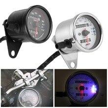 Универсальный мотоцикл одометр спидометр сигнал двойной цифровой дисплей км/ч без Kege Металл для всех мотоциклов DC 12 В