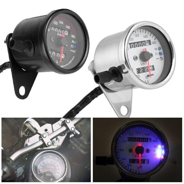 Универсальный одометр мотоцикла спидометр датчик сигнала двойное цифровое табло км/ч без Kege Металл для всех мотоциклов DC 12 V