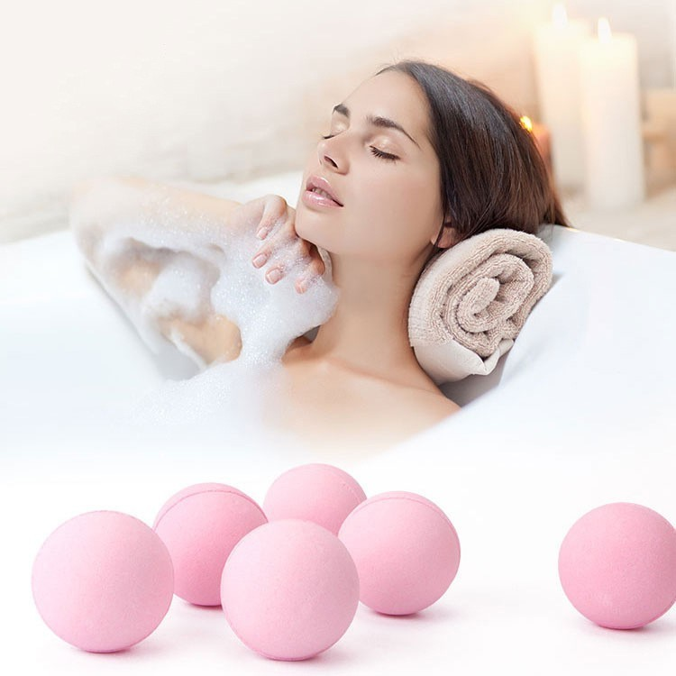 ROSOTENA Bubble Shower Organic Bath Salt Natural Essential Oil Bath Bombs Ball Whitening Skin Body Care 10g*5pcs