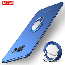 For Samsung Galaxy S6 Edge Case MSVII Frosted Coque For Samsung S6 Edge Case Metal Holder Cover For Samsung S6 S6 Edge(China)