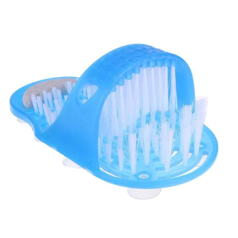 พลาสติกลบ Dead Skin อาบน้ำรองเท้าแตะเท้ารองเท้าอาบน้ำแปรง Pumice Stone Foot Scrubber สปาอาบน้ำเท้า Care เครื่องมือ