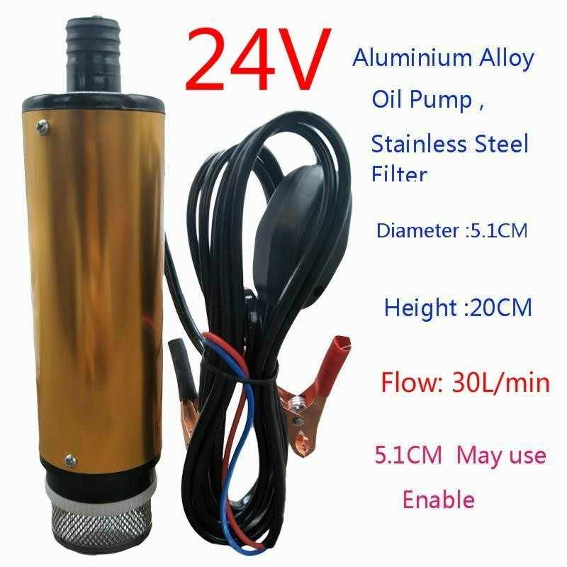 Electric Oil Change Pump Extractor Multifunctional Electric Oil Pump,12 Volt Submersible Diesel Fuel Pump Diesel Fuel Water Oil Car Truck Camping Submersible Transfer Pump