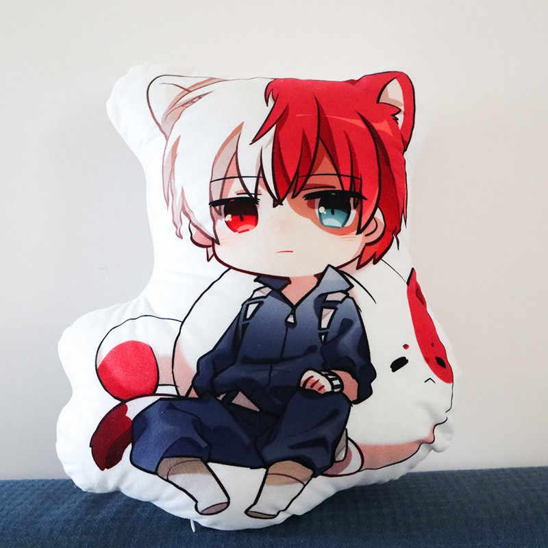 50cm My Hero Academia Anime peluş oyuncaklar Boku Yoh Asakura Katsuki Bakugo Shoto Toooroki yastık karikatür dolması oyuncaklar kız çocuklar hediye