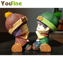 YOUFINE Creative car ornaments cute doll interior decorations gifts Wishing couples Home decoration