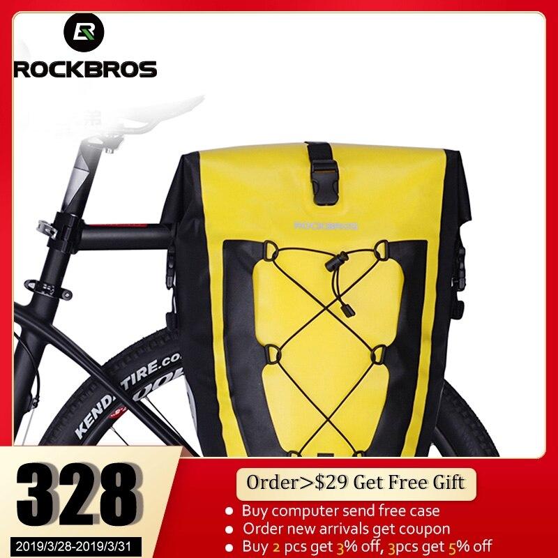 ROCKBROS езда на велосипеде рюкзак велосипедиста Водонепроницаемый навесная задняя велосипедная сумка заднее сиденье магистрали мешок-панье ...