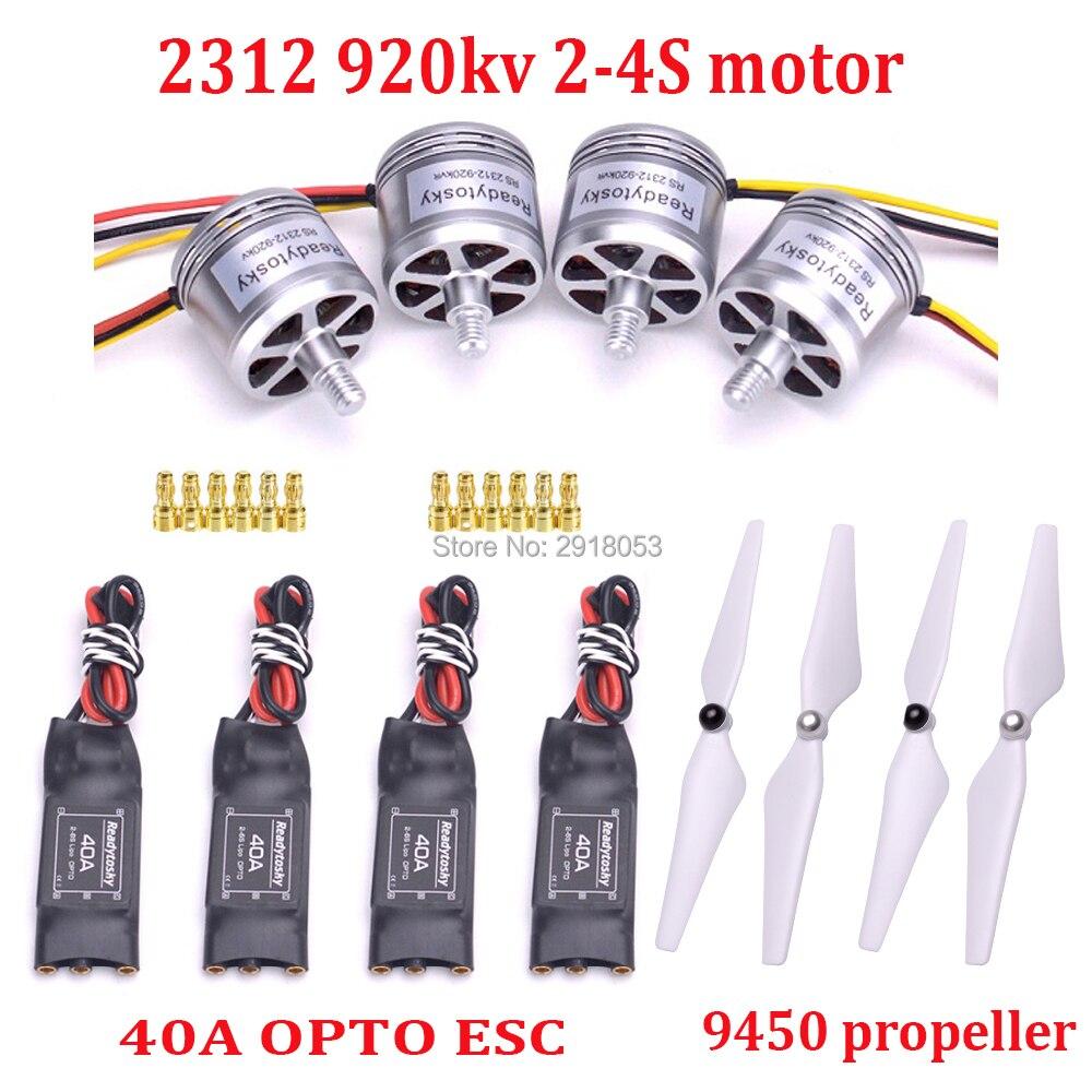 2312 920KV CW CCW 2 4 s Borstelloze Motor & 2 6 S 40A OPTO ESC & 9450 propeller voor F450 F550 S500 RC Quadcopter Multicopter-in Onderdelen & accessoires van Speelgoed & Hobbies op  Groep 1