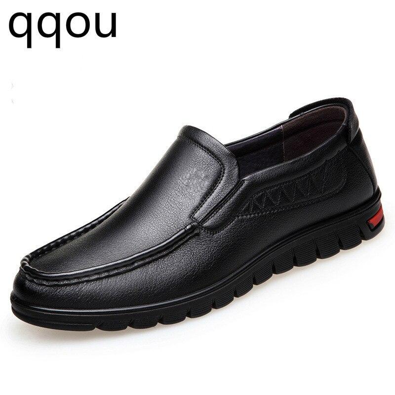 Dos Recém Confortável 44 Homens De Pai Masculinos Sapatos Macio Sapatas Lack Das Tamanho Couro 2018 Verão rown AqHwzBY