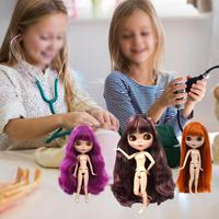 Blyth Factory Doll DIY Change BJD Toy For Children Girl Collecting Humanoid Doll Rag Long Hair Cartoon Cute Puzzle Multicolor