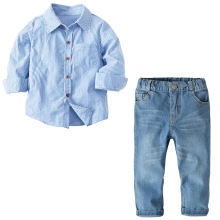 VTOM Baby Boys Fashion Sets Kids Suits Long-Sleeved Tops+ Jean  2PCS Children Clothes XN29