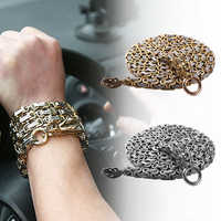 Stainless Steel Outdoor Self Defense Protection Dragon Hand Bracelet Chain Tactical Metallic Whip Corrosion Resistan 101cm
