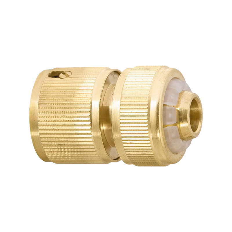 Garden Water Connectors PALISAD 66265 Connector Brass Round Tap Connectors sd16 3 pin waterproof connector ip68 led panel mount connectors automotive connectors 3 pin cable connector plug socket