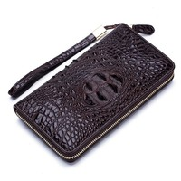 Luxury Brand Alligator Men Wallets Long Men Purse Wallet Male Clutch Leather Zipper Wallet Men Business Male Wallet Coin Purse