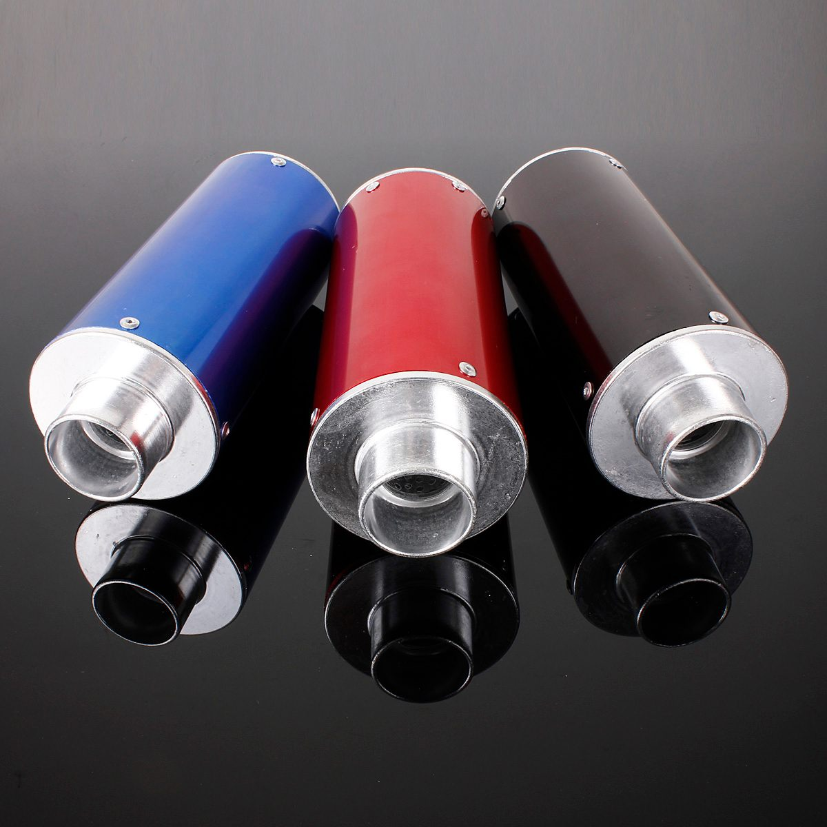 Black /Blue /Red Motorcycle Exhaust Muffler Thumpstar Xsport For 110cc 125cc 4 Storke