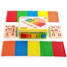 Детская математическая игрушка деревянная Дошкольная головоломка для раннего обучения игрушки для детей математическая игра палка математические цифры Счетные палочки