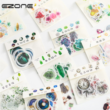 EZONE 32PCS Cute Cartoon Decor Stickers Adhesive Scrapbook Decoration Stickers  Korean Style DIY Diary Decor Stickers 19 Style