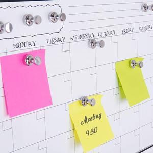 Image 2 - New 푸시 핀 20 팩, 실버 자석, 브러시 처리 된 니켈 푸시 핀 냉장고, 화이트 보드, 지도, 캘린더 및 M 용 강력한 자석