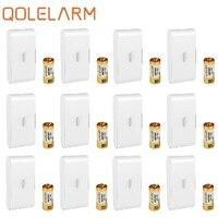 Qolelarm 433MHz оконный стеклянный разлом беспроводной вибродетектор дверная оконная сигнализация датчик с SOS, двусторонний скотч стикер Бесплат...