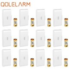 Qolelarm window glass break wireless vibration detector door alarm sensor 433 mhz
