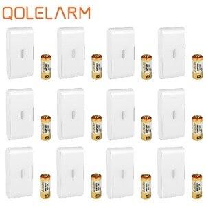 Image 2 - Беспроводной вибрационный датчик Qolelarm для окон и дверей, датчик сигнализации для окон, датчик вибрации для стекла, 433 МГц