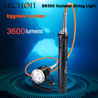 Archon New DH30II 3600lumens Canister Diving Torch Light Handheld Scuba Dive Flashlight Rechargeable Cave Searching Lamp