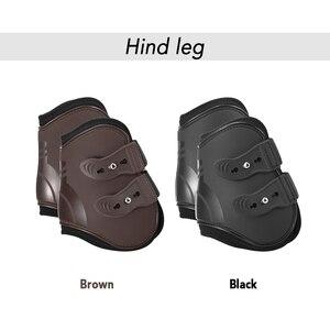 Image 5 - 4個フロント後肢調節可能馬脚ブーツ馬フロント後肢ガード馬術腱保護馬借金ブレース